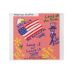 American Graffiti Throw Blanket