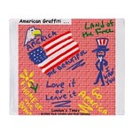 American Graffiti Throw Blanket
