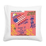 American Graffiti Square Canvas Pillow