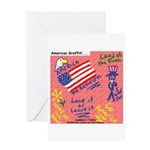 American Graffiti Greeting Card