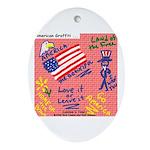 American Graffiti Ornament (Oval)