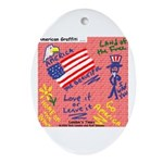 American Graffiti Ornament (Oval)