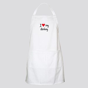 I LOVE MY Donkey Apron