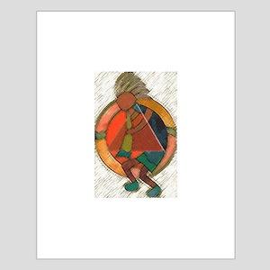 Kokopelli healing Small Poster