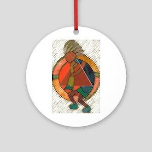 Kokopelli healing Ornament (Round)