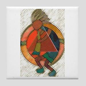 Kokopelli healing Tile Coaster