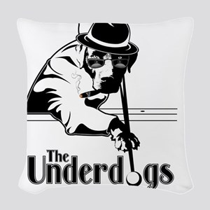 underdogsnew shirt white 2 Woven Throw Pillow