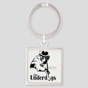 underdogsnew shirt white 2 Square Keychain