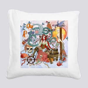 Pirate Quest Square Canvas Pillow