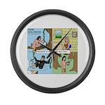 Tarzan Swinging Large Wall Clock