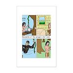 Tarzan Swinging Mini Poster Print