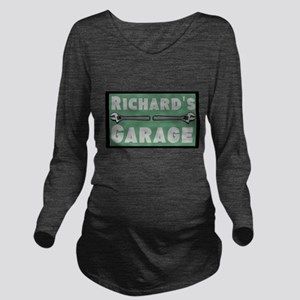 Personalized Garage Long Sleeve Maternity T-Shirt