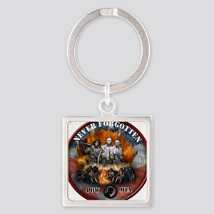 wall biker copy Square Keychain