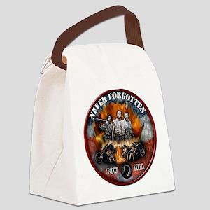 wall biker copy Canvas Lunch Bag