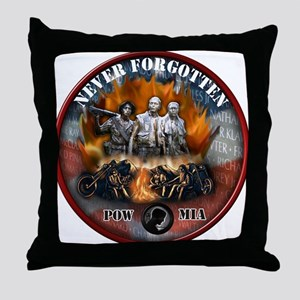 wall biker copy Throw Pillow