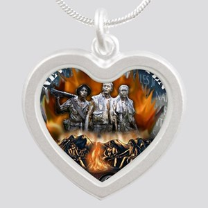 wall biker copy Silver Heart Necklace