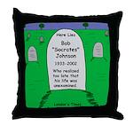 RIP Socrates Throw Pillow