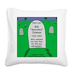 RIP Socrates Square Canvas Pillow