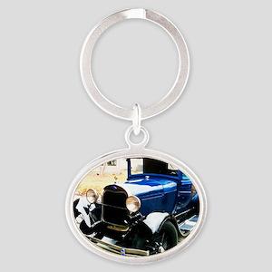 Dads A Oval Keychain