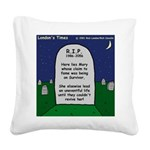 RIP Mary Square Canvas Pillow