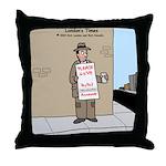 Modern Bum Throw Pillow