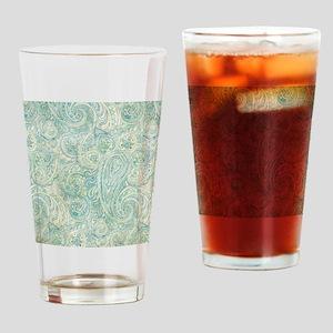 iPad-Jade Paisley Drinking Glass