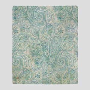 iPad-Jade Paisley Throw Blanket