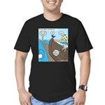 Noah and Moses Men's Fitted T-Shirt (dark)