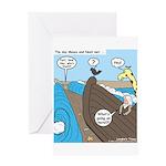 Noah and Moses Greeting Card