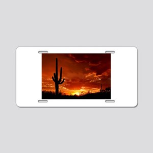 Saguaro Sunset-2 Aluminum License Plate