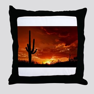 Saguaro Sunset-2 Throw Pillow