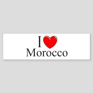 """""""I Love Morocco"""" Bumper Sticker"""