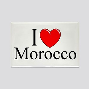 """I Love Morocco"" Rectangle Magnet"