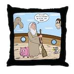 Noah as Janitor Throw Pillow