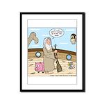 Noah as Janitor Framed Panel Print