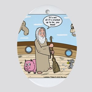 Noah as Janitor Ornament (Oval)
