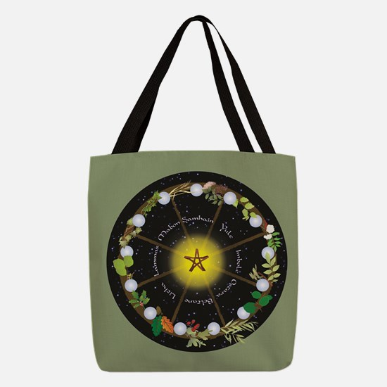Wheel Of The Year In Holidays Polyester Tote Bag