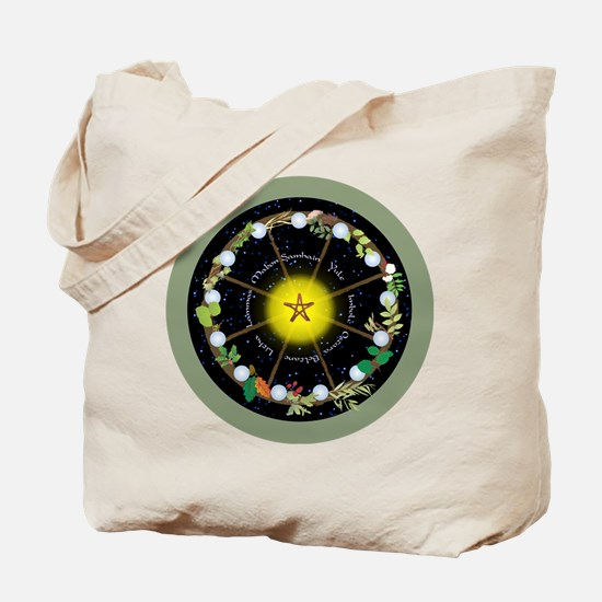 Wheel of the Year in Holidays Tote Bag