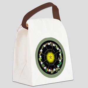 Wheel of the Year in Holidays Canvas Lunch Bag