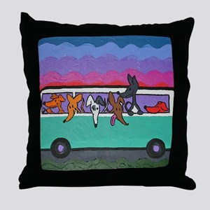 GoGreyhound Throw Pillow