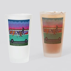 GoGreyhound Drinking Glass