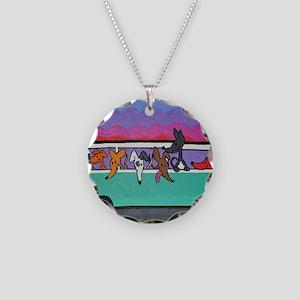 GoGreyhound Necklace Circle Charm