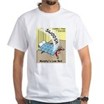 Murphys Law Bed White T-Shirt