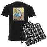 Murphys Law Bed Men's Dark Pajamas