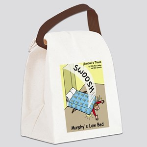 Murphys Law Bed Canvas Lunch Bag