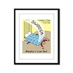 Murphys Law Bed Framed Panel Print