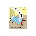 Murphys Law Bed Mini Poster Print