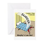 Murphys Law Bed Greeting Cards (Pk of 10)