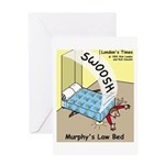 Murphys Law Bed Greeting Card