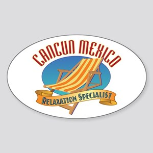 Cancun Relax - Sticker (Oval)